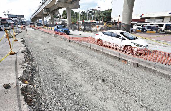 Las lentas obras en la zona paga de San Isidro en San Miguelito
