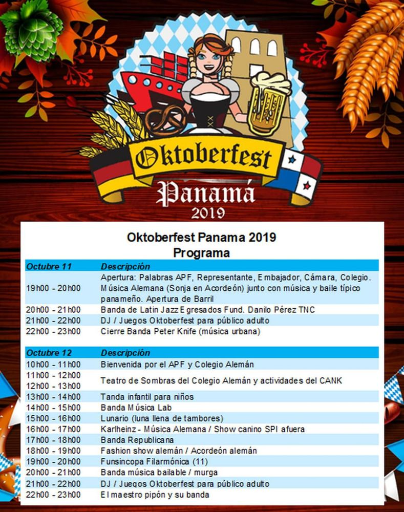 Festival de la cultura alemana: Oktoberfest Panamá 2019