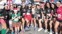Nutrida concurrencia en Santas Race