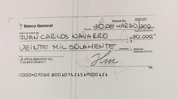 Blue Apple Services aportó 20 mil dólares a la campaña de Juan Carlos Navarro