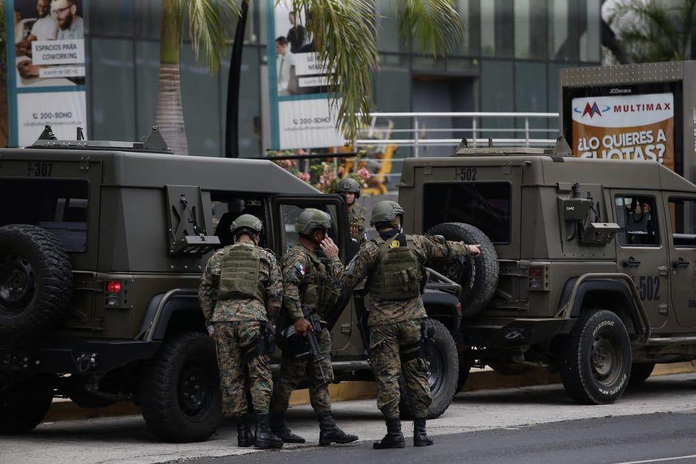 La policía se apoya con personal del Senan y el Senafront para garantizar el orden público en la capital