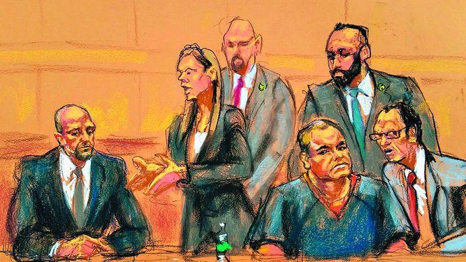 El Chapo se presenta ante los tribunales