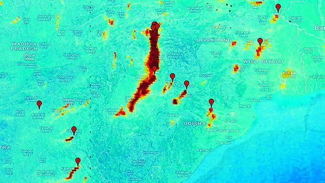 Satélite muestra contaminantes atmosféricos
