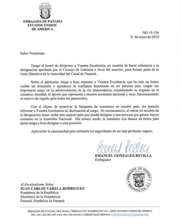 Emanuel González Revilla pide no ser considerado para la directiva de la ACP