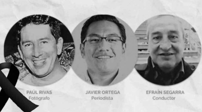 Sociedad Interamericana de Prensa exige a mandatarios de América que no quede impune asesinato de periodistas ecuatorianos