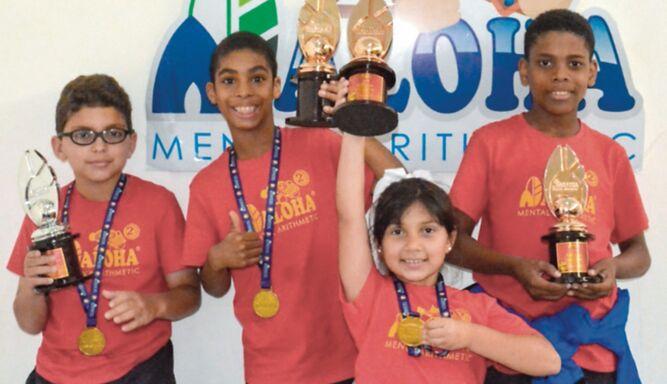 Niños panameños destacan en competencia de cálculo