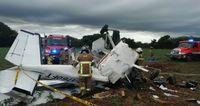 Dos personas muertas y una herida tras precipitarse una avioneta en Guararé