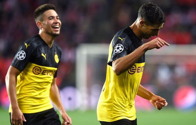 Primera victoria del Dortmund en Champions gracias al marroquí Hakimi
