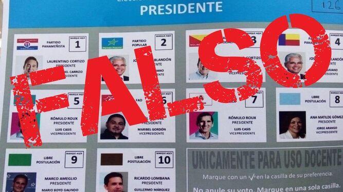 Tribunal Electoral denuncia que circula una falsa papeleta de candidatos a la Presidencia