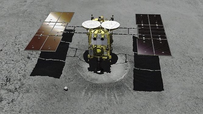 Sonda japonesa Hayabusa2 parece haberse posado en el asteroide Ryugu