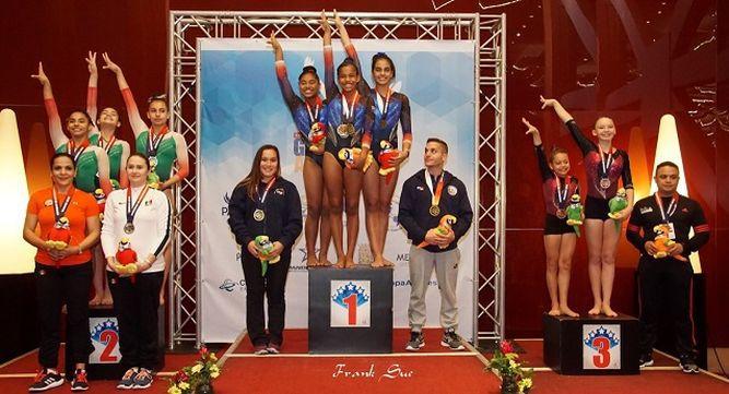 Panamá y México dominan centroamericano de gimnasia en la categoría juvenil