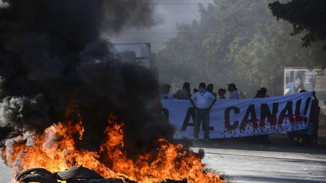 Dos muertos en protesta contra construcción de canal en Nicaragua