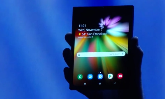 Samsung presenta una pantalla plegable para el 'smartphone del mañana'