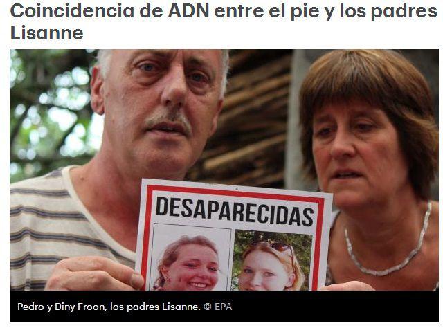 Nuevas revelaciones en caso de holandesas desaparecidas