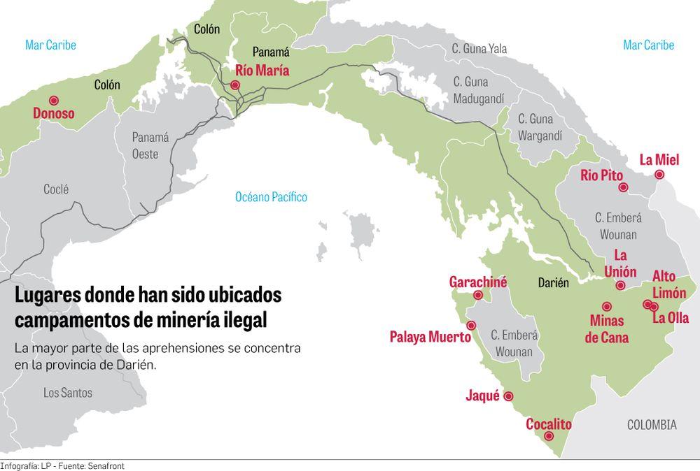 Bandas criminales de Colombia explotan minería ilegal en Darién