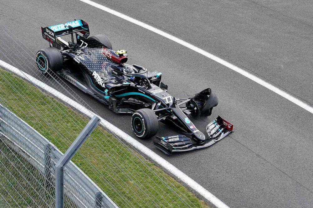 Lewis Hamilton gana con una rueda reventada en Gran Bretaña