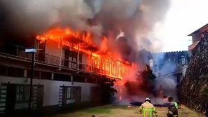 Se incendian tres caserones cercanos a la Plaza Herrera, San Felipe