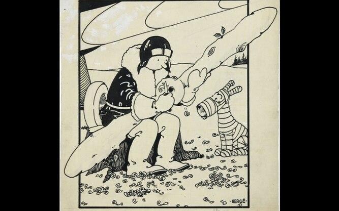 Dibujo de la primera portada de Tintín rematado en 1.1 millones de dólares