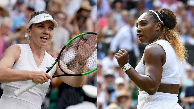 Serena Williams disputará la final de Wimbledon contra Simona Halep