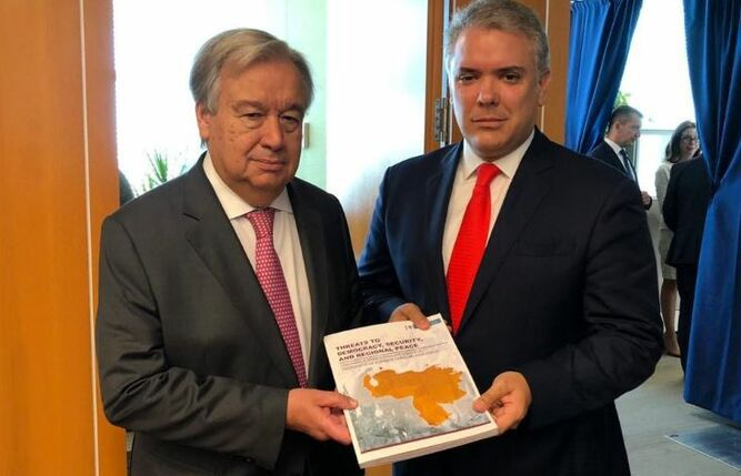 Diario afirma que Duque entregó a la ONU datos falsos sobre guerrilleros colombianos en Venezuela