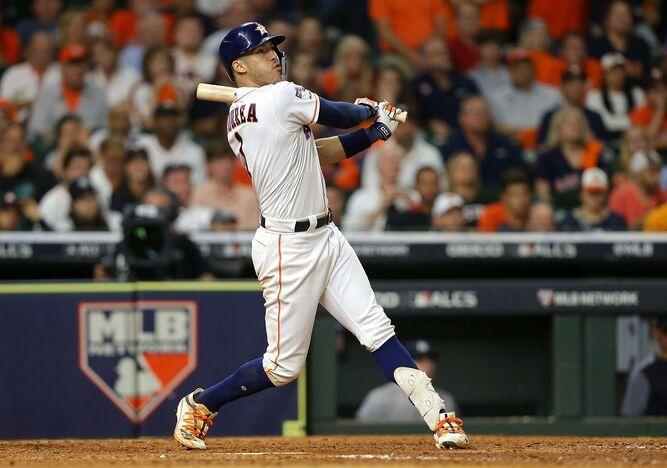 Cuadrangular de Correa empata la serie entre los Astros de Houston y los Yankees de Nueva York