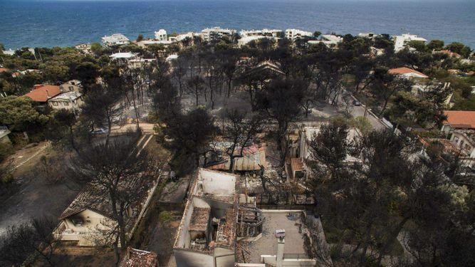En Mati, la desolación de una ciudad 'que ya no existe'
