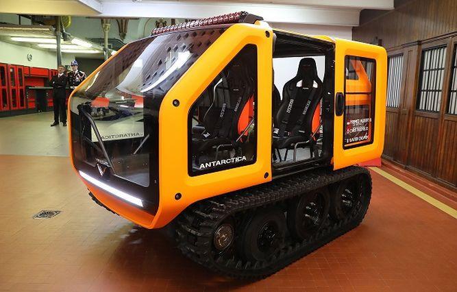 Un vehículo 100% eléctrico para explorar el polo norte y la Antártida