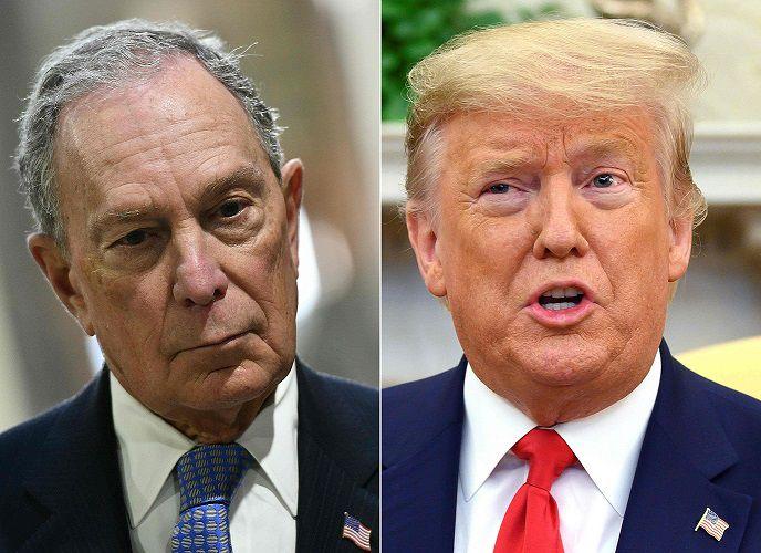'Perdedor' contra 'payaso de feria': sube el tono entre Trump y Bloomberg
